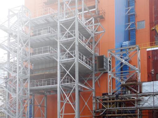 PK4 Boiler denitrification and flue gas desulfurization